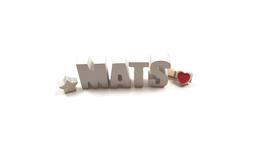 Beton, Steinguss Buchstaben 3D Deko Namen MATS als Geschenk verpackt!