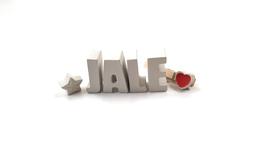 Beton, Steinguss Buchstaben 3D Deko Namen JALE als Geschenk verpackt!