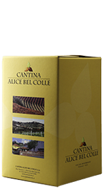 Bag in box Vino Bianco CHARDONNAY 5 L.- Cantina Alice Bel Colle