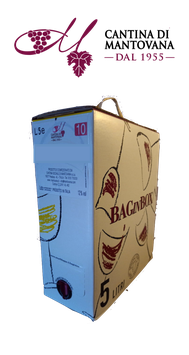 Bag in box Vino Rosso BARBERA 5 L. 12,5° Cantina Sociale di Mantovana