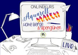 OK Aquarell Malen Hohe Berge & Alpenglühen
