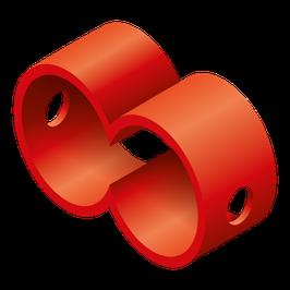 Doppelrohrverbinder