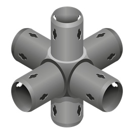 Raumkupplung 6-armig