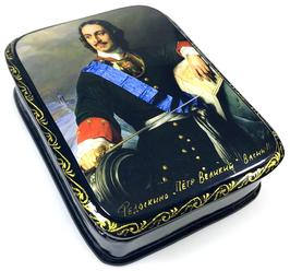 Peter der Große - Russische Schatulle Lackdosen Fedoskino, Artikel HER11