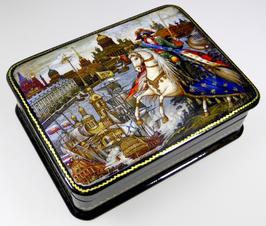 Peter der I. - Russische Schatulle Lackdosen Fedoskino, Artikel HER02