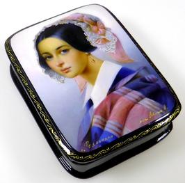 Russische Schönheit - Russische Schatulle Lackdosen Fedoskino, Artikel WP28