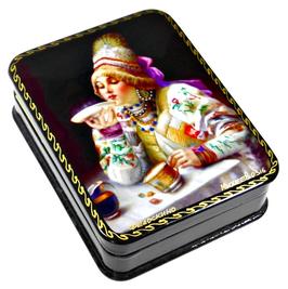Teetrinken - Russische Schatulle Lackdosen Fedoskino, Artikel WP24