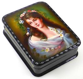 Russische Schönheit - Russische Schatulle Lackdosen Fedoskino, Artikel WP19