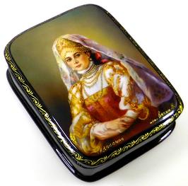 Bojarentochter - Russische Schatulle Lackdosen Fedoskino, Artikel WP37
