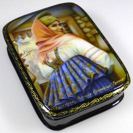 Russische Schönheit - Russische Schatulle Lackdosen Fedoskino, Artikel WP26