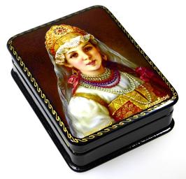 Bojarentochter - Russische Schatulle Lackdosen Fedoskino, Artikel WP25