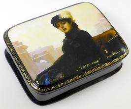 Die Unbekannte - Russische Schatulle Lackdosen Fedoskino, Artikel WP14