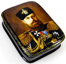 Zar Alexander der III. - Russische Schatulle Lackdosen Fedoskino, Artikel HER10