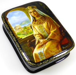 Russische Prinzessin - Russische Schatulle Lackdosen Fedoskino, Artikel HER16