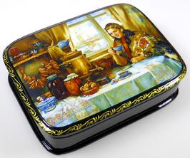 Teetrinken - Russische Schatulle Lackdosen Fedoskino, Artikel FOLK12