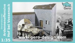 """Gero Dioramabausatz """"Ardennenoffensive -Hof bei Vossenack"""" 1:35  mit 25 Lasercutteile"""