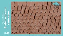"GERO KERAMIK "" Bieberschwanz-Schindeln "" 1 :35 - roof tiles"