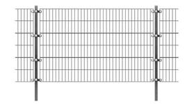 Zaunfeld mit Pfosten 6 Meter x verschiedenen Höhen  Anthrazit  SET