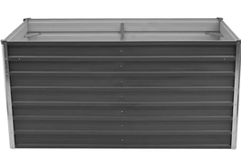 Hochbeet 160 x 80 x 77 cm Verzinkter Stahl Grau