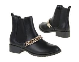 Ankle Boots mit Goldkette