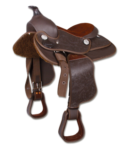 Westernsattel braun teilweise Leder in 2 Größen