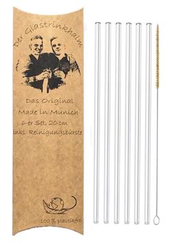 6er Set DerGLASTRINKHALM, 20 cm