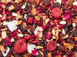 Himbeere-Kirsch-Komp(l)ott – Früchtetee aromatisiert