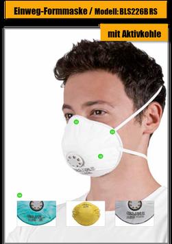 Einweg Atemschutzmaske BLS 226B RS