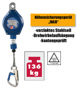 """Höhensicherungsgerät """"IKAR"""" 41-HWPS 6 m"""