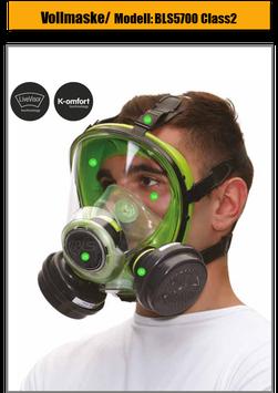 Vollmaske / Atemschutzmaske BLS5700