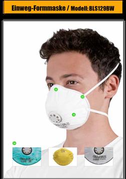 Einweg Atemschutzmaske BLS 129BW