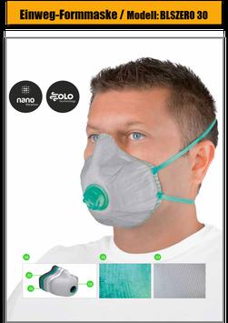 Einweg Atemschutzmaske BLS Zer0 30 FFP3