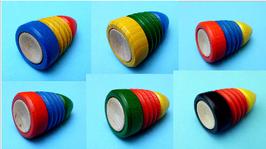 Peitschenkreisel dreifarbig