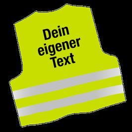 Warnweste | mit Deinem Text