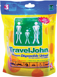Travel John! 3 pack – (3 units)