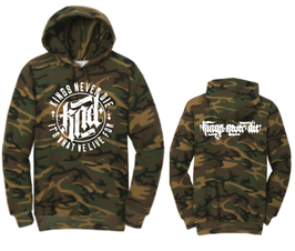 """""""IT'S WHAT WE LIVE FOR"""" Hoodie (Camo)"""