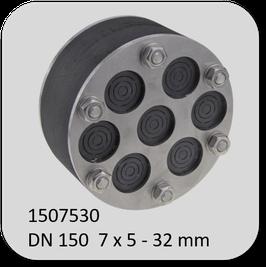 Universal-Mehrfach Dichteinsatz, geschlossene Ausführung mit perforierten Einschnitten  gegen drückendes Wasser mit 60 mm Dichtbreite