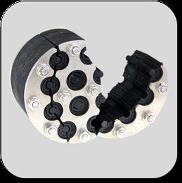 Universal-Mehrfach Dichteinsatz  geteilt aufklappbar gegen  nicht drückendes Wasser mit 30 mm Dichtbreite