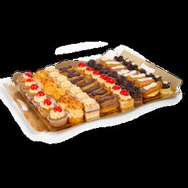 Mini Pastelitos Surtidos. 56 stuks in een doos, 8 varianten, 30 gram p/stuk.