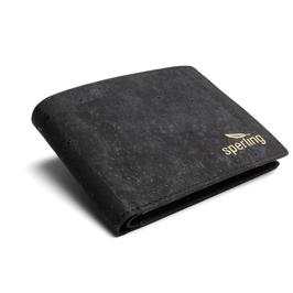 Herren Portemonnaie aus Kork - schwarz