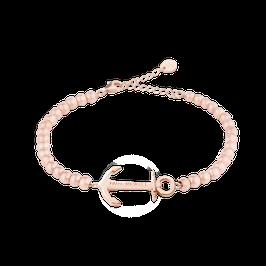Perlen Armkette Anchor Spirit Roségold Steel