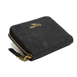 Damen Portemonnaie aus Kork - schwarz