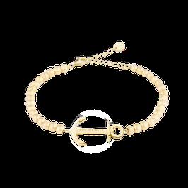 Perlen Armkette Anchor Spirit Gold Steel