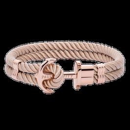 Ankerarmband Phrep Roségold Nylon Hazelnut