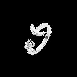 Ankerring - halboffen - Silber