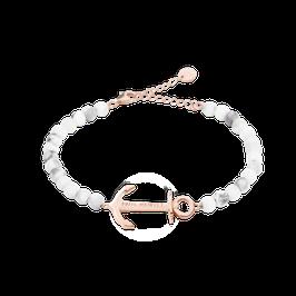 Perlen Armkette Anchor Spirit Roségold Marble