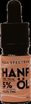 5% CBD ÖL  10ml Fullspectrum Sweedbar