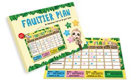 Faultierplan - Ein interaktiver Familien-Wochenplaner zum selbst gestalten