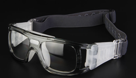 Sports Glasses Transparent Grey (Adults) - Available Now! Limited sets.