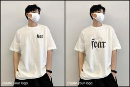 Custom print cotton t-shirt order (oversized cotton t shirt)